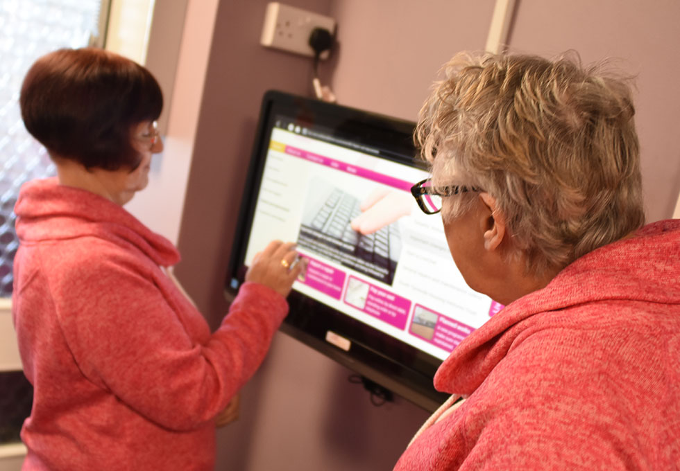 Bishop Ramsay Court - touch screens