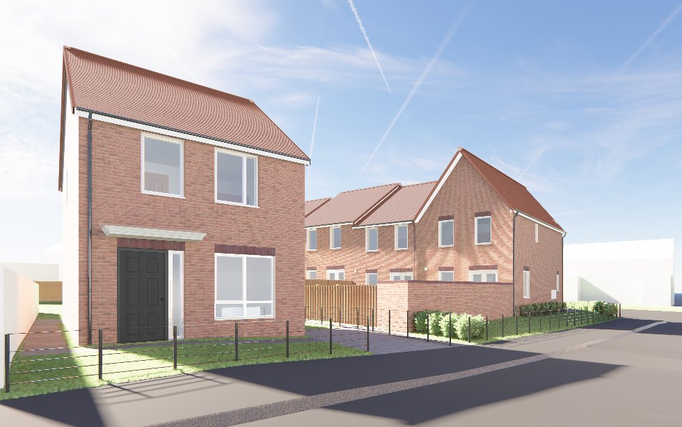 Artist's impression of how homes at Henderson Road could look